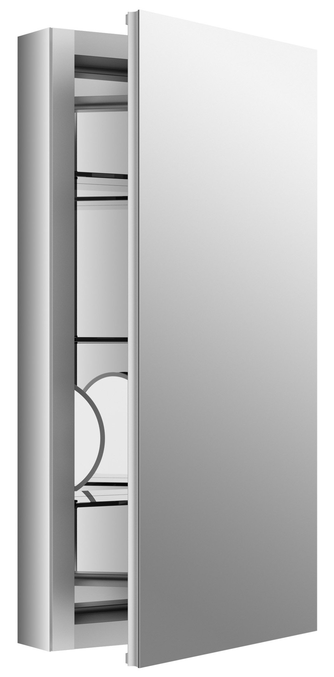 KOHLER K-99001-NA Verdera 15-Inch By 30-Inch Slow-Close Medicine Cabinet With Magnifying Mirror