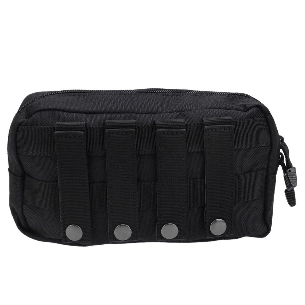 NELNISSA Outdoor 1000D MOLLE Accessory Pouch EDC Utility Tool Bag (Black)