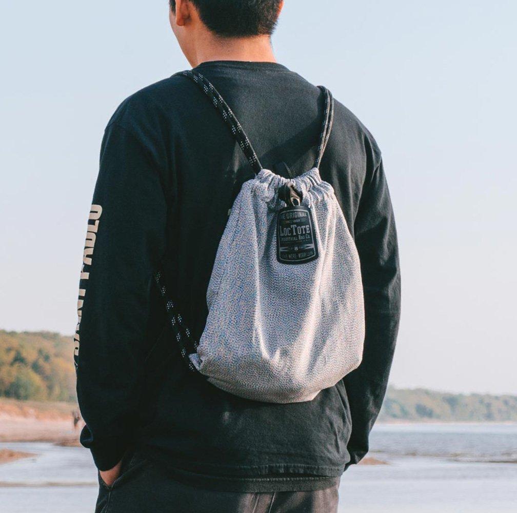 LOCTOTE Flak Sack SPORT - Lightweight Theft-Resistant Drawstring Backpack | Lockable | Slash-Resistant | Portable Safe by LOCTOTE (Image #6)