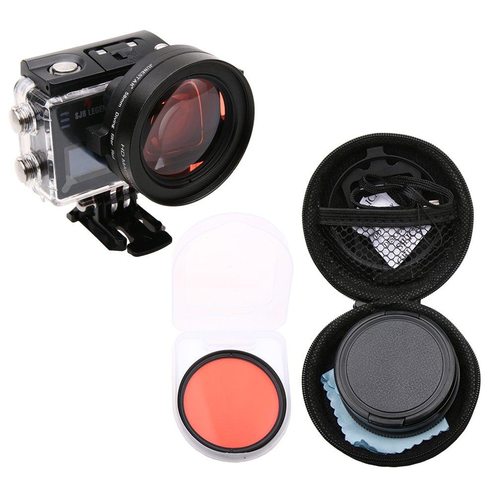 Meijunter 58mm Macro 16X Magnification for SJCAM SJ6 Legend Action Camera, HD Macro Close-Up Filter Lens 16X Magnification + Red Filter Accessories Meijunter Electronics Co. Ltd.