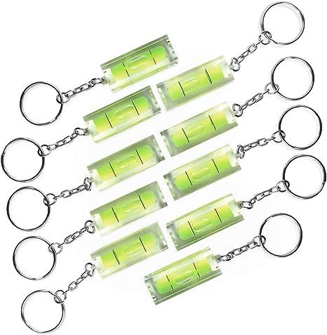 Photolini 10x Mini Wasserwaage Aus Acrylglas Mit Schlüsselanhänger Küche Haushalt