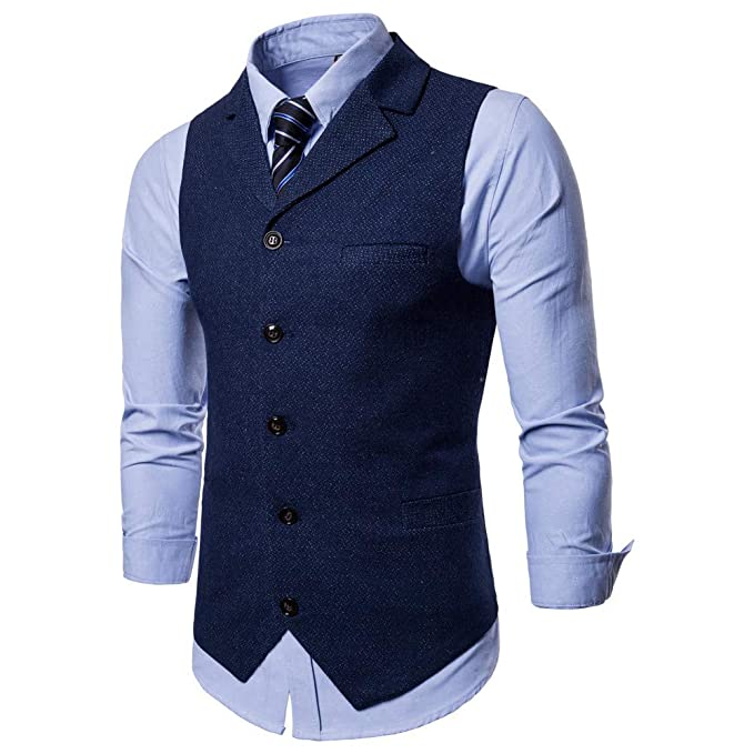 Blusa de Hombre, Polo de Hombre, Camisetas de Hombre, BaZhaHei, Botón de los Hombres Chaqueta de la Chaqueta sin Mangas Impresa Ocasional Blusa de Traje ...