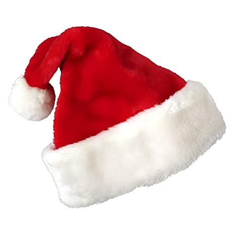 Cusfull Cappello da Babbo Natale unisex Padre Natale Cappelli Fancy Dress  Up Accessorio per adulti   d620b374d2ff