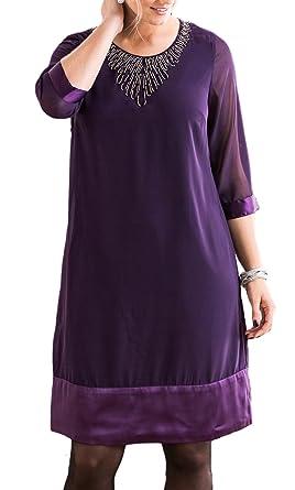 Ladies UK Size 8-34 Purple or Black Beaded Evening Dress -Plus Size 18