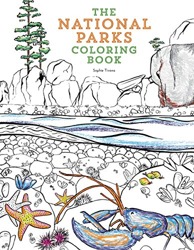 Amazon The National Parks Coloring Book 9780062560018 Sophie Tivona Books