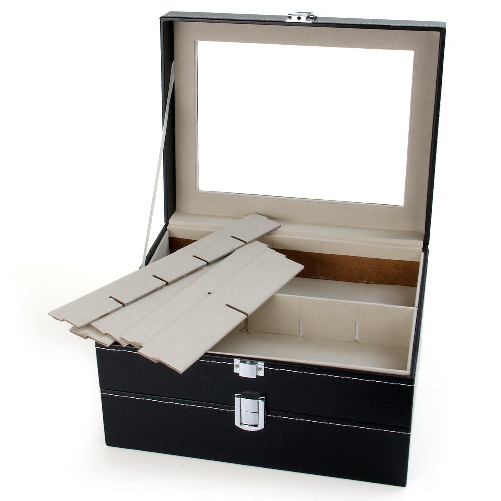 CXP 20 Grid Watch Storage box Window Leather a Variety of Jewelry gift Finishing box Practical by CXP (Image #1)