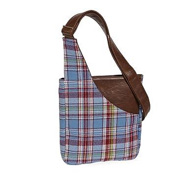 dd17f3ebf4 QUINTESSENTIAL Brodie Tweed Tartan Crossbody Bag - Blue Tartan   Amazon.co.uk  Shoes   Bags
