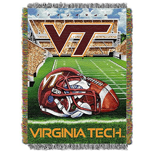 "NCAA Virginia Tech Hokies Home Field Advantage Woven Tapestry Throw, 48"" x 60"""