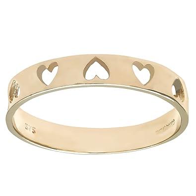 Citerna Women's 9 ct Yellow Gold Heart Ring 6104tL