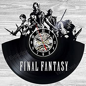 Amazon Com Final Fantasy Vinyl Wall Clock Art Gift Room