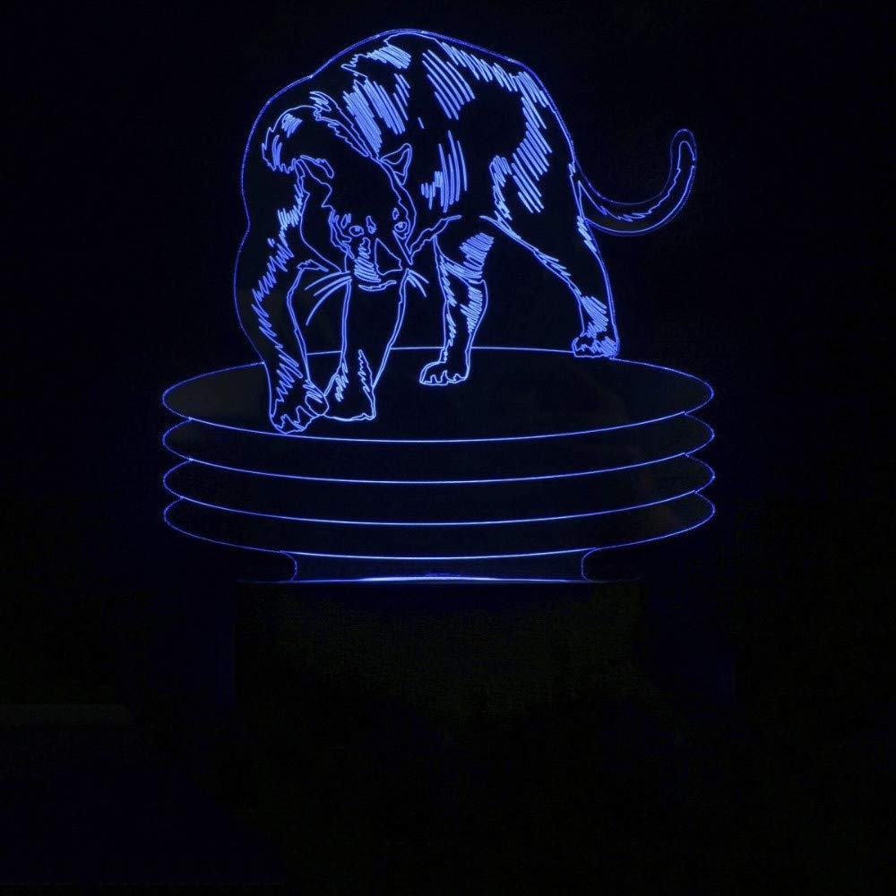 7 bunte led kreative usb tischlampe schlafzimmer schlaf beleuchtung 3d leoparden modellierung dekor leuchte tier nachtlicht