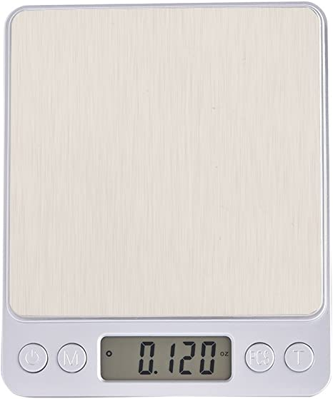 Fosa Bilancia da cucina digitale 3000 g * 0.1 g bilancia da cucina professionale con ampio display LCD con 5 unit/à per ingredienti alimentari