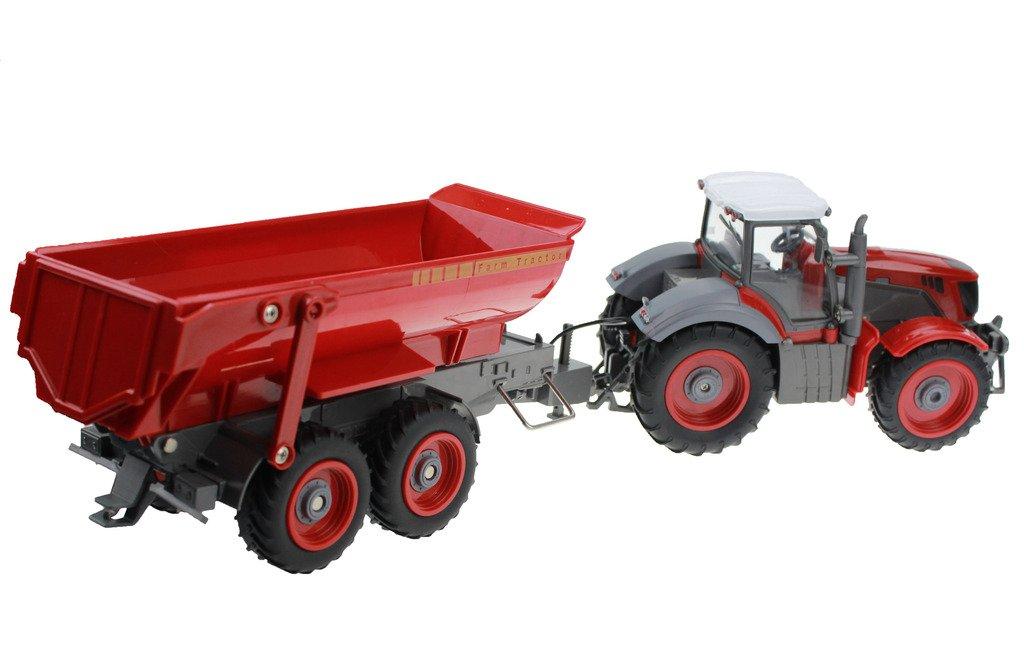Hugine 6 Canal 4 Rueda Camión Control Remoto Farm Tractor con Skip Cubo: Amazon.es: Juguetes y juegos