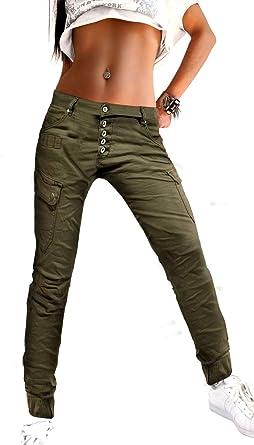 Pantalones Jogg Jeans De Mujer Pantalones Joggstyle Cargo Safari Ejercito Militar Look En Estiramiento Verde Oliva Color Caqui Tamano 40 Color Caqui Amazon Es Ropa Y Accesorios