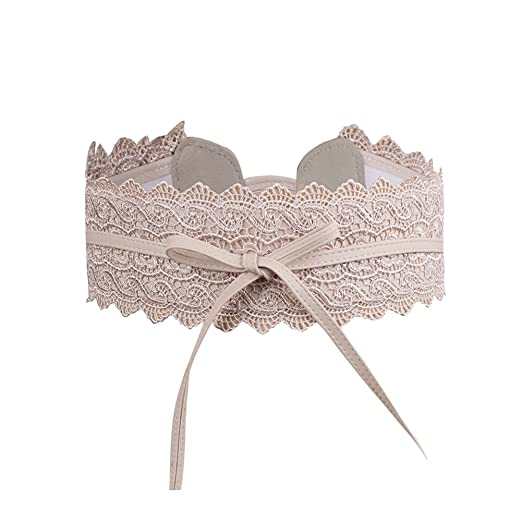 e841358b55fed Image Unavailable. Image not available for. Color: Womens Lace Waist Belt  Soft Faux Leather Boho Band Corset Fashion Accessories for Dresses