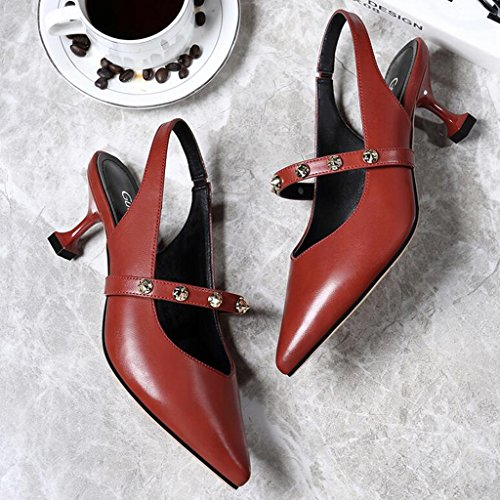 Sandals Female PU Upper Summer Wrap Toe Thin Heel Elastic Band Rhinestone Fashion Women's Shoes High Heels 2 FcwgW