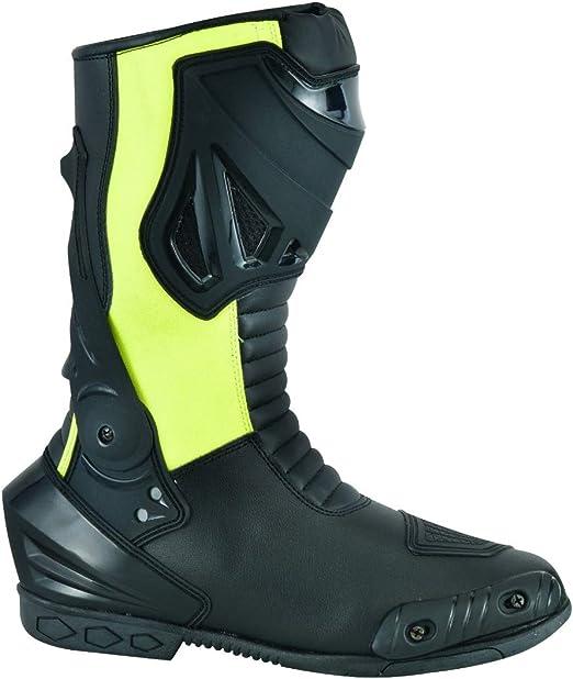 Botas Para Moto Puro Cuero Con Protecciones. Impermeables!