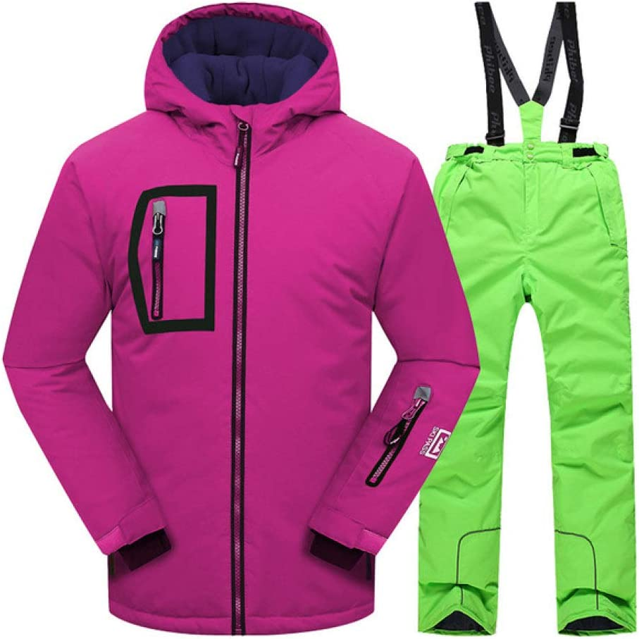 Grün XL BOLIXIN SkianzugWinteranzug Winddicht Skijacke O lls Outdoor warme Sport Schneeanzug