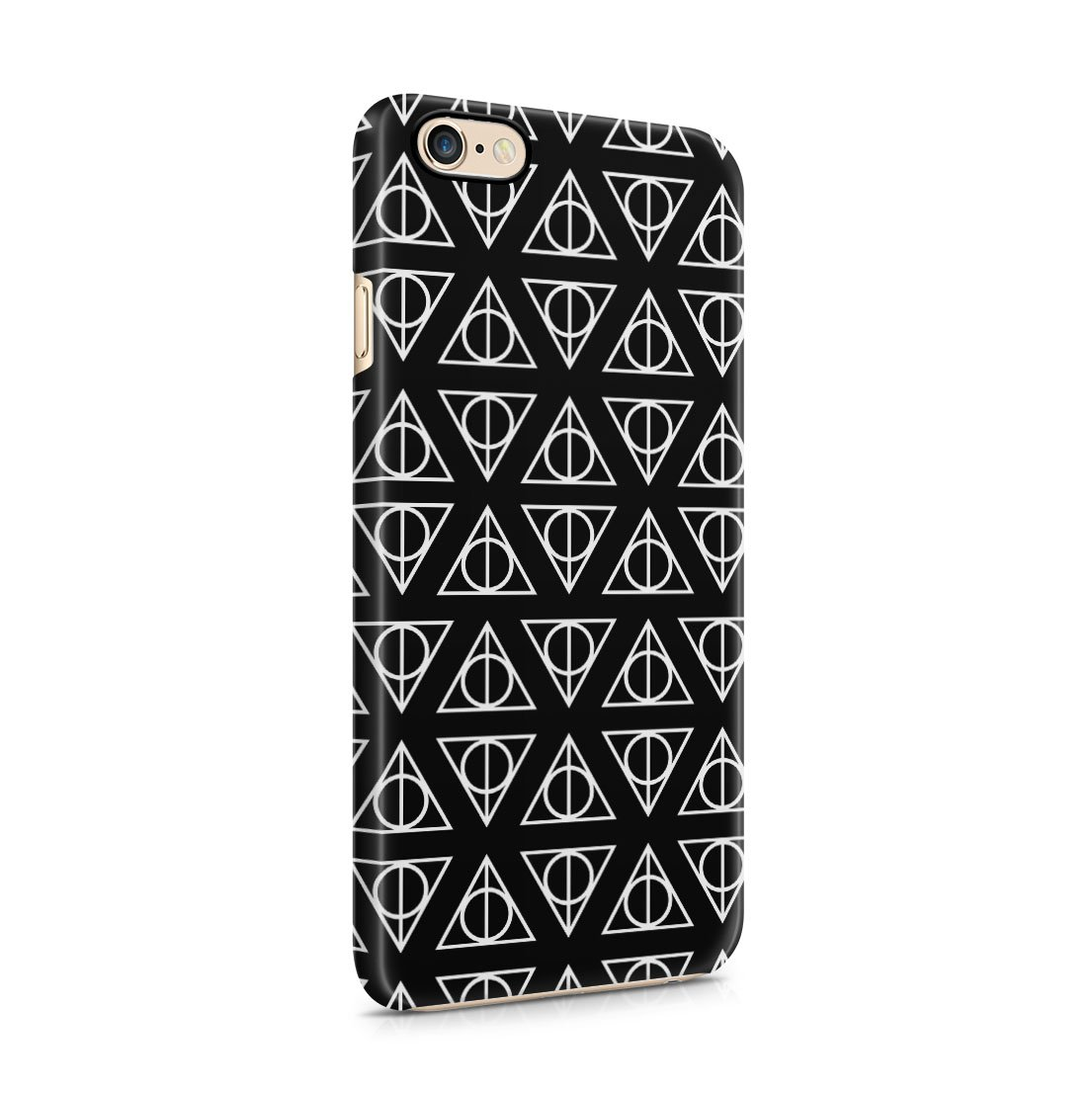 Harry Potter Deathly Hallows Pattern iPhone 6 / 6S Hard Plastic Phone Case Cover