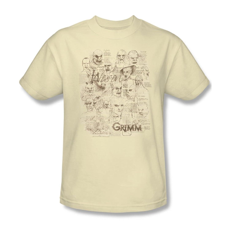 Grimm - Mens Wesen Sketches T-Shirt In Cream
