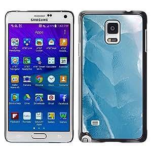 TopCaseStore / la caja del caucho duro de la cubierta de protección de la piel - Ice Winter Lake White - Samsung Galaxy Note 4 SM-N910
