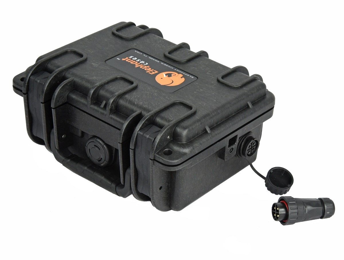 Elephant K095 Custom Made Kayak Battery Box, Boat Waterproof Battery Case for Powering GPS, Fish Finders, Led Lights, Aerator Pump and More.