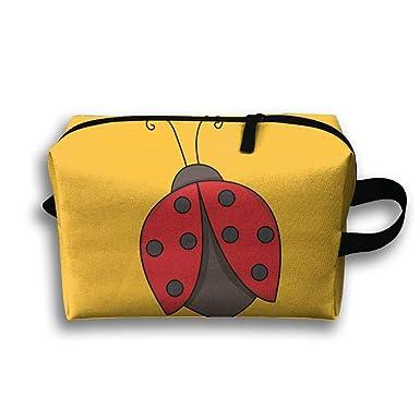 Amazon.com: Dibujo Ladybug cosméticos bolsas de maquillaje ...
