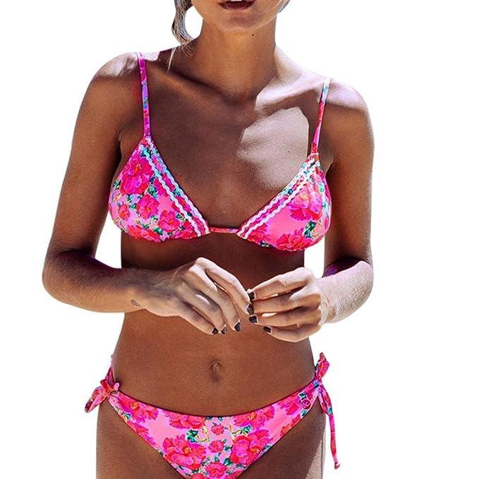 LUVERSCO Mujer Trajes De Baño Dama De Playa Ropa Interior Chicas Adolescentes Bikini Set Cómodo y