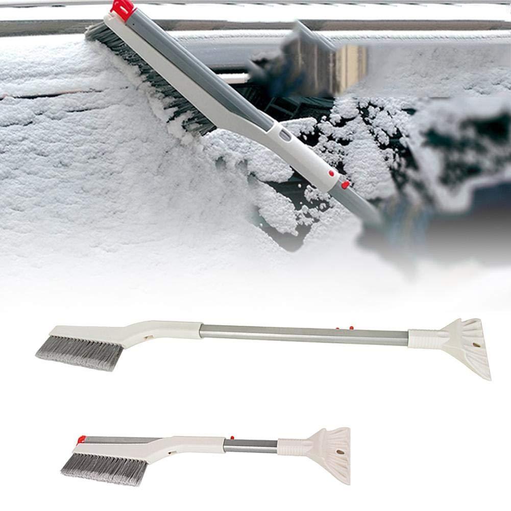 dalilylime Car Snow Brush and Ice Scraper Folding Retractable Snow Brush 2 in 1 Car Snow Shovel Hair Removal Brush Retractable 60cm-86cm Method