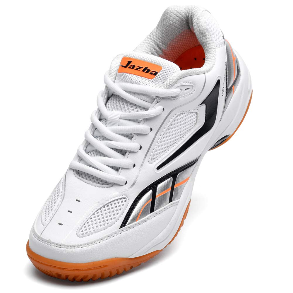 Jazba GECKOR 1.0 Badminton Racquetball Squash Volleyball Indoor Court Shoes for Men, Non Slip, Non Marking, Lightweight Sole Superior Cushioning Ankle Support, Designed for Fast and Light footwork by Jazba