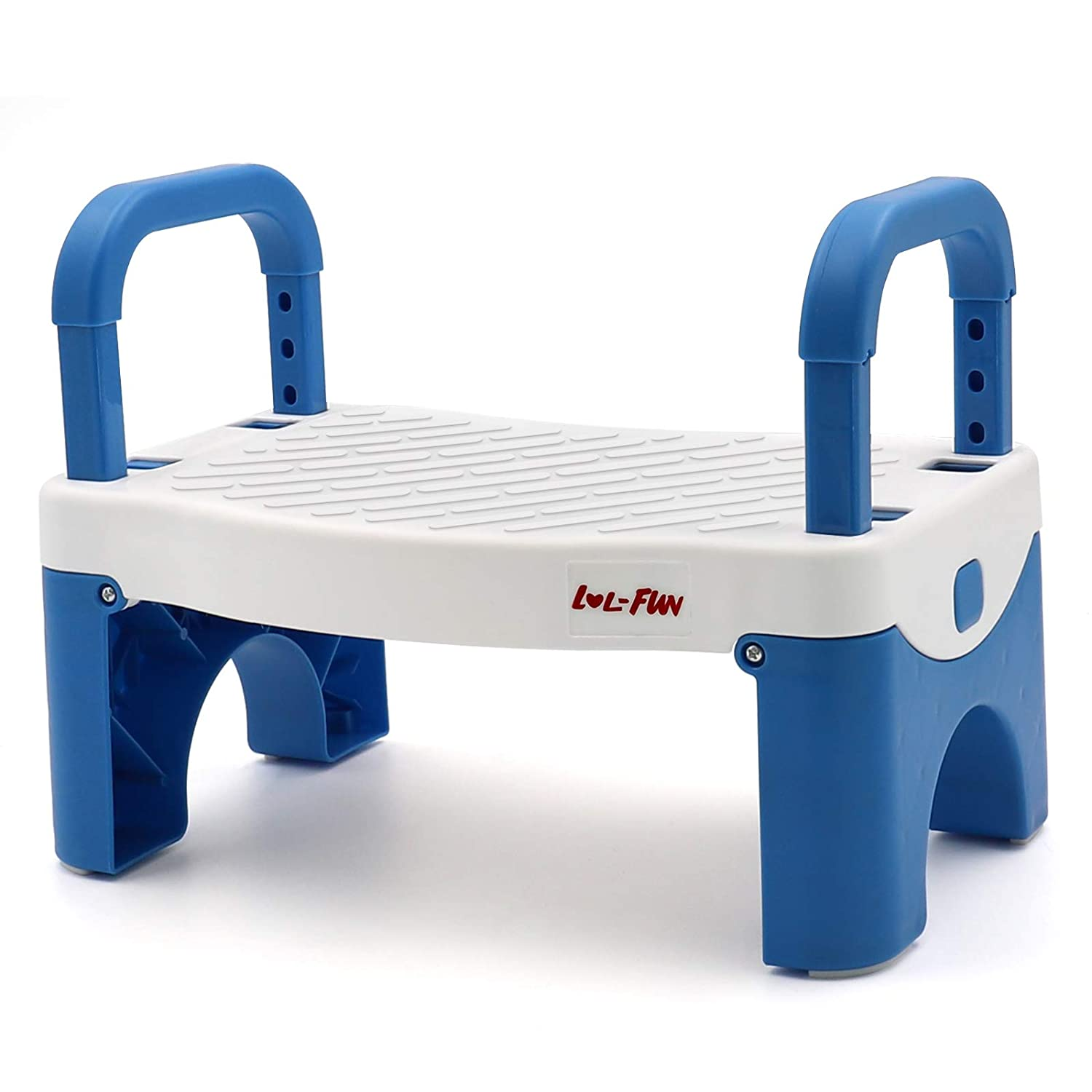 LOL-FUN Folding Step Stool for Kids,Toddler Stool for Bathroom Sink,Child Step Stool for Boys and Girls -Blue
