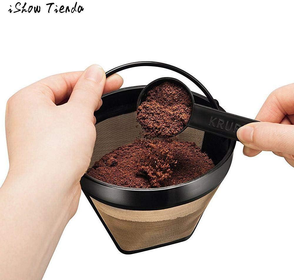 Kitchen Tools - Filtro de café reutilizable permanente lavable para máquinas de café y filtros de café: Amazon.es: Hogar