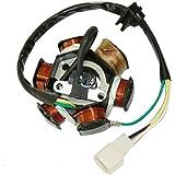 GOOFIT 6 Polonais 5 fils Half-Wave Ignition Magneto stators pour GY6 50cc 70cc 90cc 110cc 125cc ATV Quad Pocket Bike