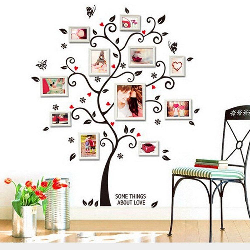 Zooarts Foto de familia Árbol de Happy adhesivo decorativo para ...