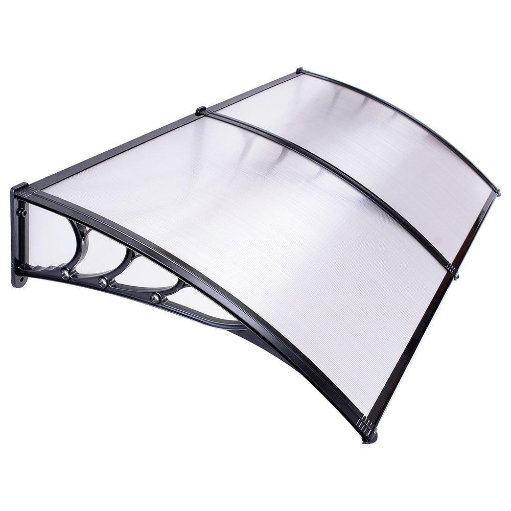 Triprel Inc. 39.4'' x 78.8'' Window Awning Door Sun Shade Canopy Hollow Sheet UV Rain Snow Protection
