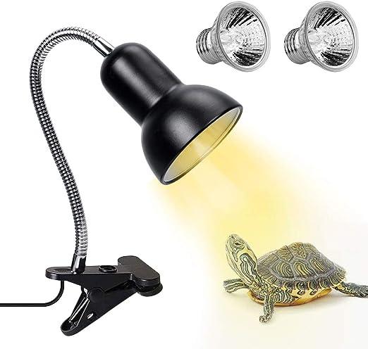 Lizards Turtle Snakes Aquarium JMLY Pet Lizard Tortoise Reptile Lamp Holder Basking Light,Heat Spotlight Holder With Clamp Lamp Fixture /& 360 /° Rotating neck Lamp For Reptiles White