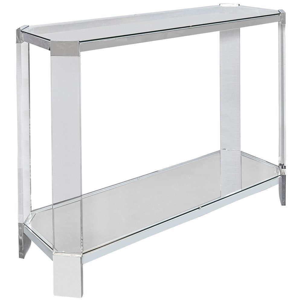 Amazoncom Mercer Chrome And Glass Modern Console Table Kitchen