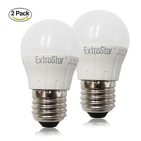 EXTRASTAR Bombilla LED 5W E27 (repuesto para foco halógeno de 40W) [Clase energética