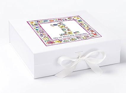 Caja de recuerdo de primer cumpleaños para primer cumpleaños de peonía, Memory Box, caja