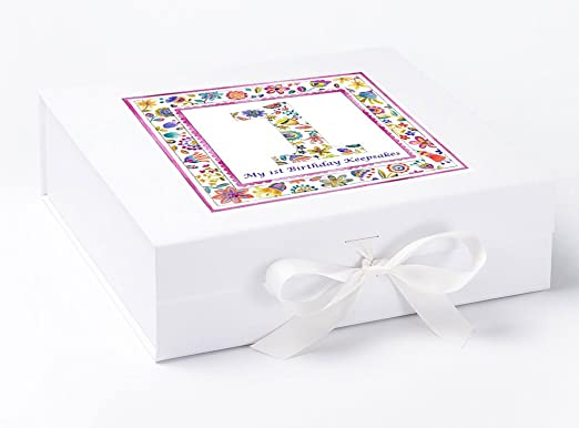 Caja de recuerdo de primer cumpleaños para primer cumpleaños ...