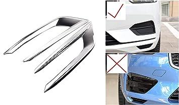 Tapa decorativa para XC60 2018 2019 faros antiniebla delanteros de ABS cromado 2 piezas para accesorios