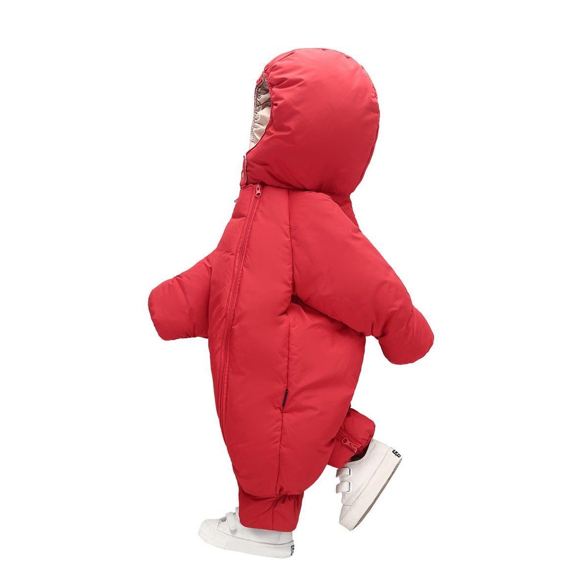 Pagliaccetto del Bambino Inverno AHATECH Piumino Bambino Invernale Tute da Neve Neonato Hooded Pagliaccetti