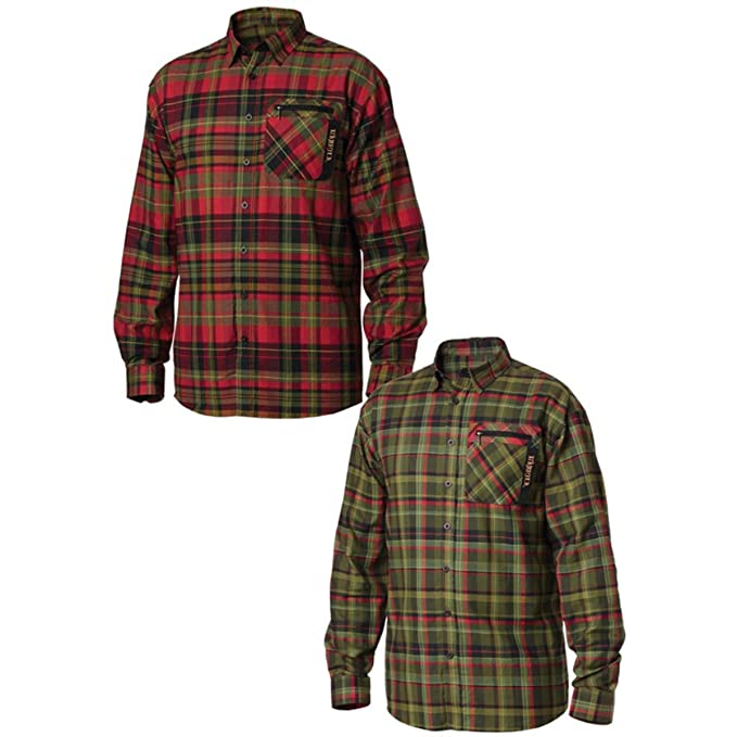 Harkila Camiseta de Newton Rojo Fiery Red Check Medium ...