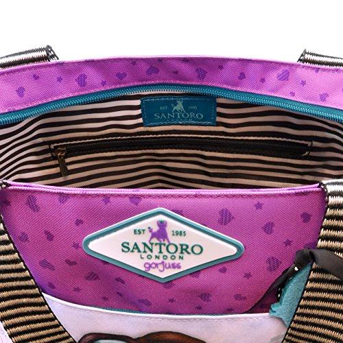 amp; Purple Beach 44 cm Bag Violeta Canvas Tote Gorjuss 656gj03 vCnwqvTf