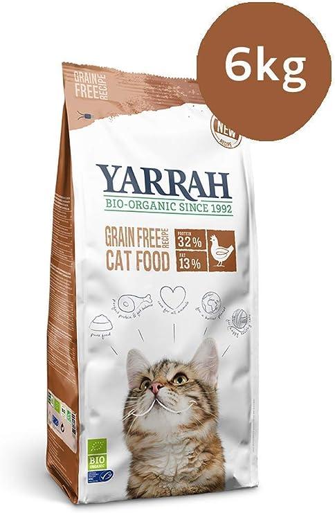 Yarrah Alimento Orgánico para Gatos sin Cereales - 6 kg - para ...
