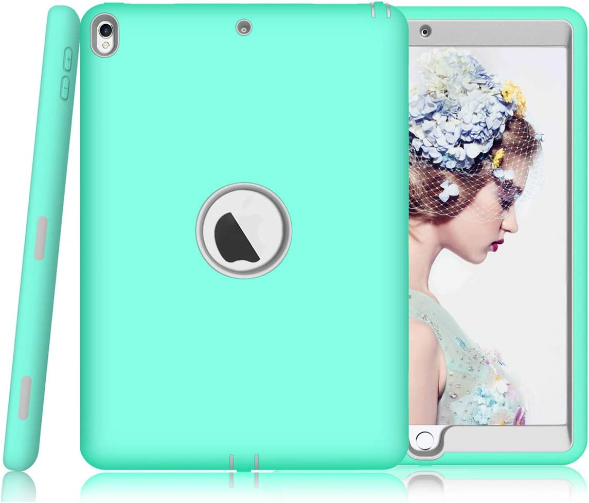 sevrok iPad Air 3 Case [Minimalist-Series ] Shockproof Defender Hard PC+Silicone Hybrid Protective Armor for New 2019 Apple iPad Air 3rd Generation 10.5 inch, Teal