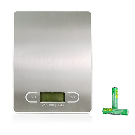Pesacartas – Báscula de cocina digital Gris Digital Báscula de cocina electrónica Báscula alta precisión a