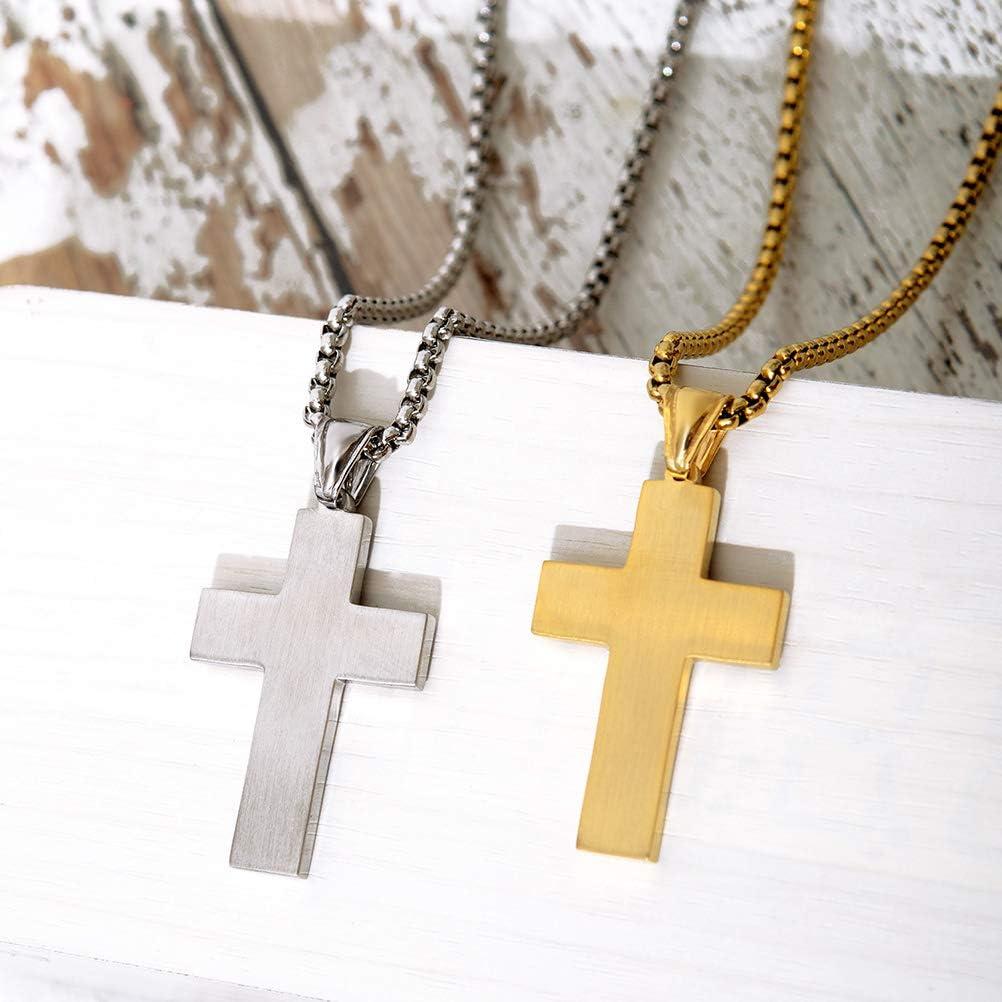 BESTOYARD Wooden Cross Necklaces with Cord for Women Men Party Favors 12pcs