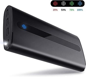 Todamay 24000mAh Portable Power Bank with 3 USB Charging Ports
