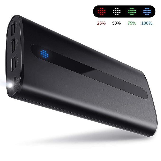 428403cd1daa15 Todamay Power Bank 24000mAh Ultra-Portable Phone Charger External Battery  2.1A Input Port,